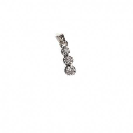 18kt white gold pendant with total 0.42 ct diamonds-model (BARBARA)