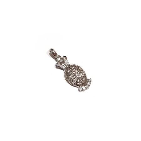 18kt white gold pendant with total 0.23 ct diamonds-model (ALIA)