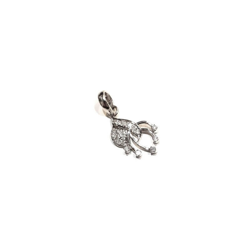 Pendant in 18kt White gold with DIAMONDS 0.24 ct Total - Model (DELTA)