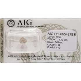 Diamante certificato AIG 1.10 G I2 in Blister - REP. D89655427BE