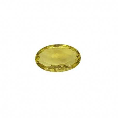 Oval green citrine 24.58 carats 16 x 25 mm