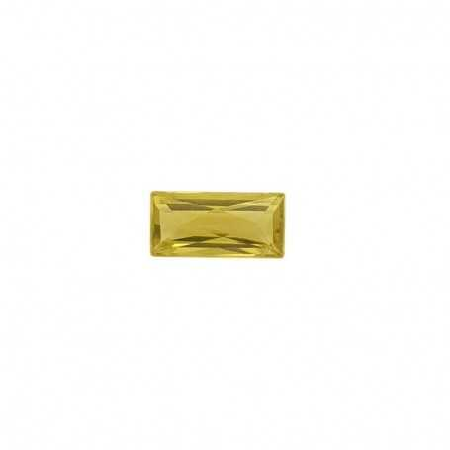 Citrine green BAGUETTE 17.17 carats 10 x 21 mm