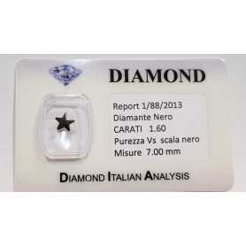 BLACK DIAMOND STAR 1.60 CARAT in BLISTER CERTIFICATE