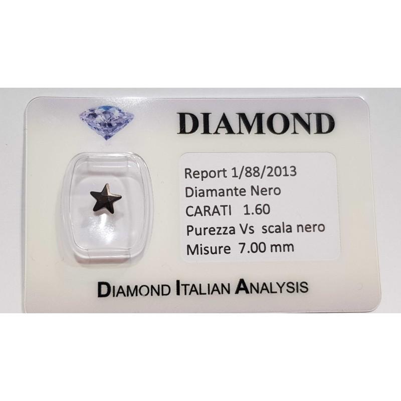 BLACK DIAMOND STAR DE 1,60 CARAT en BLISTER CERTIFICAT