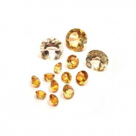 Yellow citrine round 0.70 carat 5.00 mm