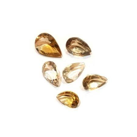 Citrine yellow drop 2.43 carat 8.18 X 12.05 mm