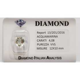 AQUAMARINE OVAL CUT 4.08 CT BLISTER