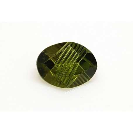 PERIDOT ENGRAVED OVAL 3.64 CAR DISCOUNT 65 %