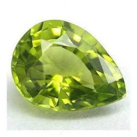 Peridot Drop-cut 0.42 carat 4.07 x 5.85 mm