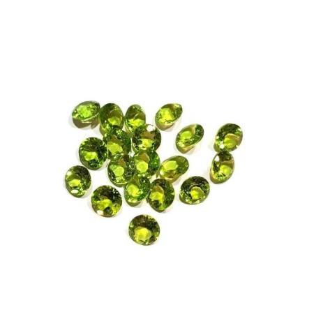 Peridot cut Round 1.00 carat 6.00 mm