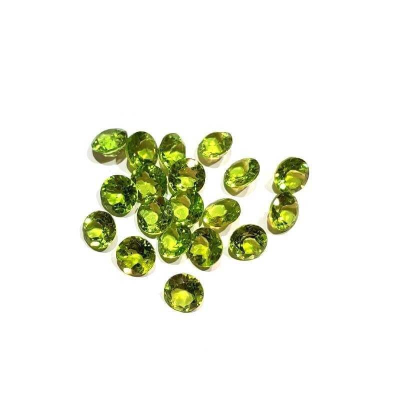 Péridot coupe Ronde 16h00 carats, de 8,00 mm