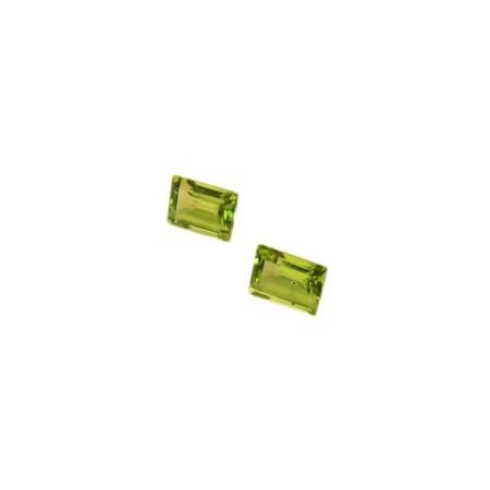 Peridot cut Emerald 1.25 carat 7.29 x 5.23 mm