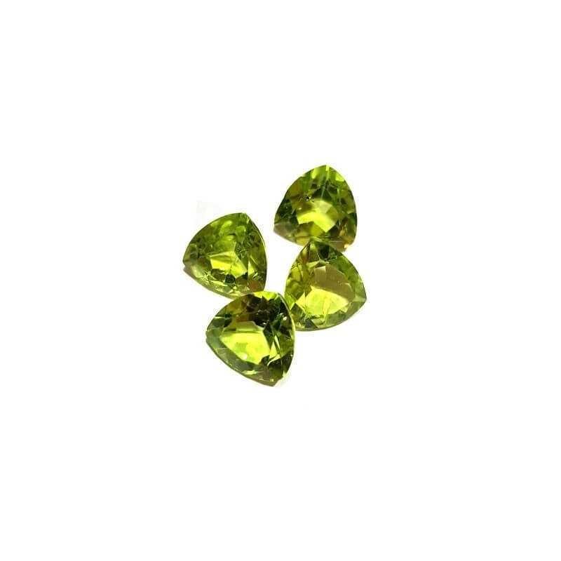 Peridot Trillion cut 1.14 carats 7.00 x 7.00 mm