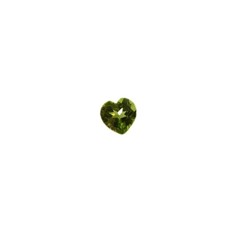 Peridoto taglio Cuore 0.80 carati 6.00 x 6.00 mm