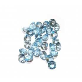 TOPAZE BLEUE RONDE de 0,10 Carats de 3 mm