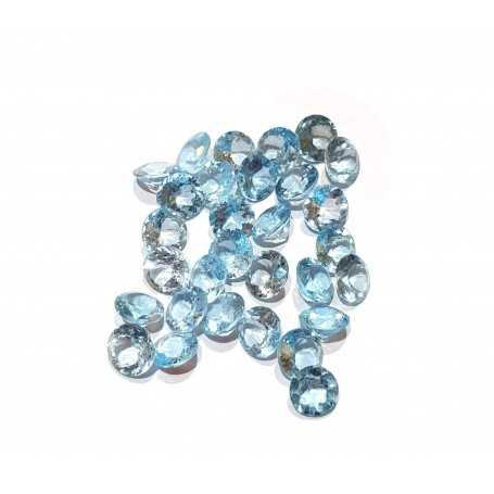 Blue round topaz 0.10 carat 3 mm