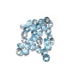 TOPAZE BLEUE RONDE 3.00 Carats 9 mm
