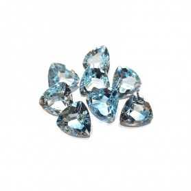 TOPAZE BLEUE TRIANGLE BILLIONS de VOITURE 11.00 14 X 14 mm