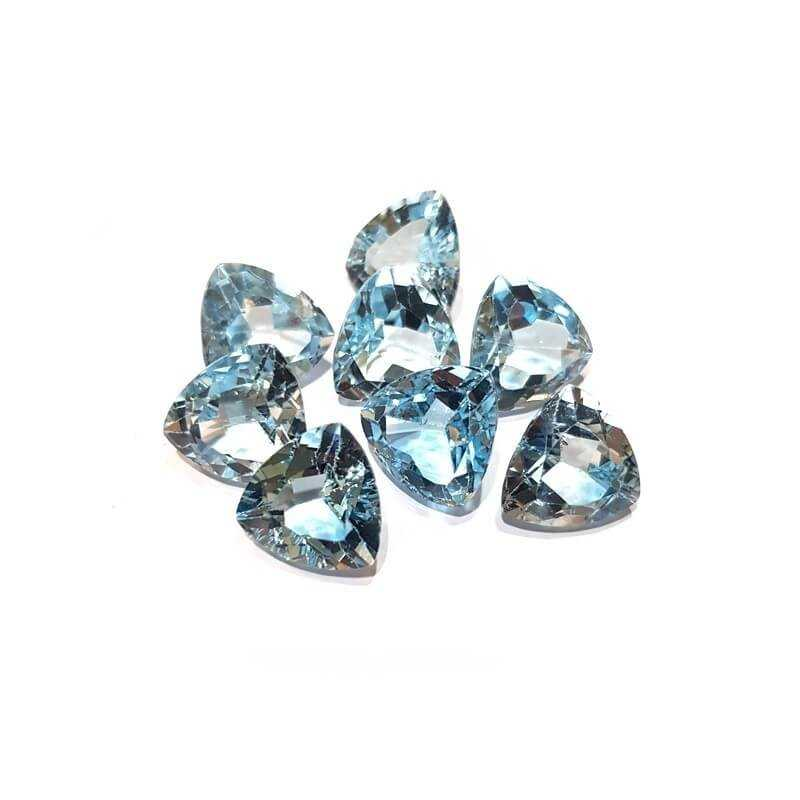 BLUE TOPAZ TRIANGLE TRILLION CAR 11.00 14 X 14 mm