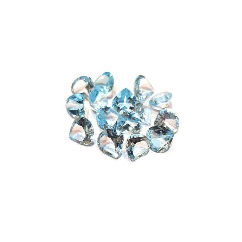 TOPAZE BLEUE BAISSE de 3,50 Carats 9.83 x 9.83 mm