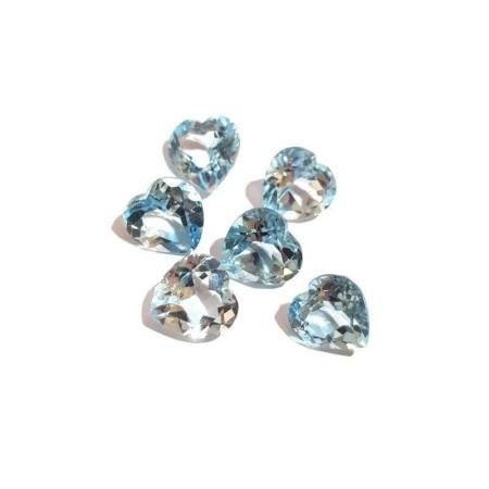 Heart blue topaz 4.98 carats 9.97 x 10.17 mm
