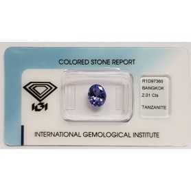 TANZANITE OVALE 2.01ct in BLISTER CERTIFICATO IGI - R1D97360