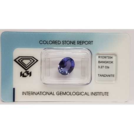 TANZANITE OVALE 3.27ct in BLISTER CERTIFICATO IGI - R1D97354