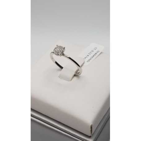 18kt gold ring with total 0.11 ct diamonds-model (Constellation)