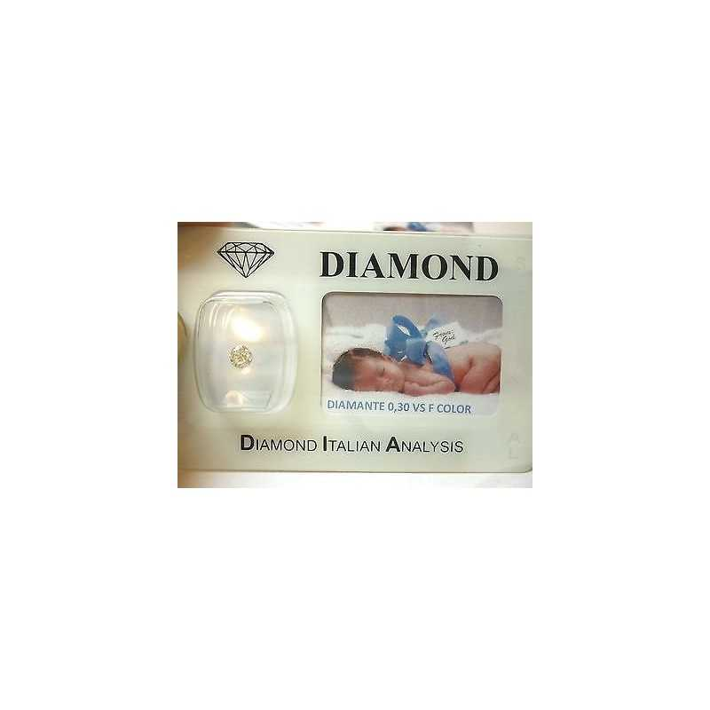 DIAMANTE 0.30 vs F color blister personalizzabile scatola regalo
