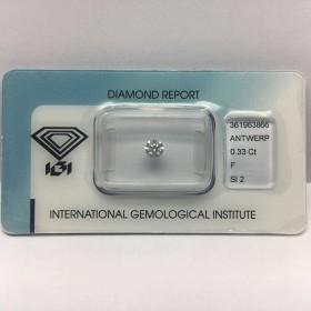 Diamant Certifié IGI 0.33 F SI2 Blister - REP.361963866