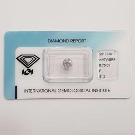 Diamant certifié IGI 0.75 F SI2 Blister - REP.301773610