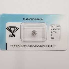Certified diamond IGI 0.77 F SI2 Blister - REP.301773629