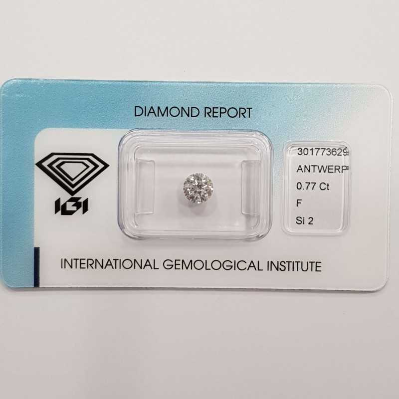 Diamante Certificato IGI 0.77 F SI2 in Blister - REP.301773629