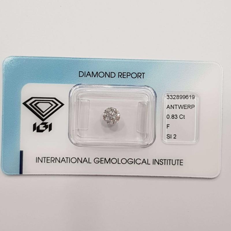 Diamante Certificato IGI 0.83 F SI2 in Blister - REP.332899619