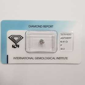 Diamante Certificato IGI 0.41 F SI2 in Blister - REP.337816253