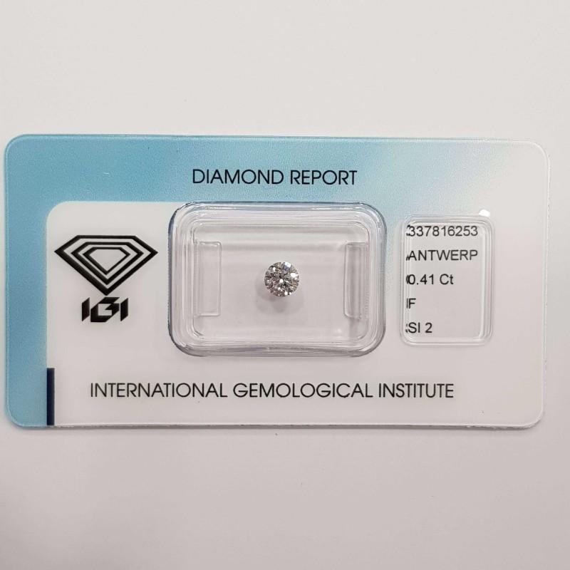 Diamante Certificato IGI 0.41 F SI2 in Blister - REP.337816253