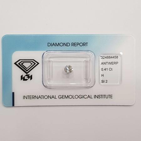 IGI 0.41 H SI2 certified diamond in Blister - REP. 324884458