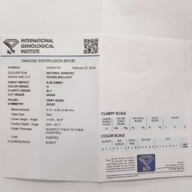 Diamant Certifié IGI 0.30 H SI1 - REP355934783