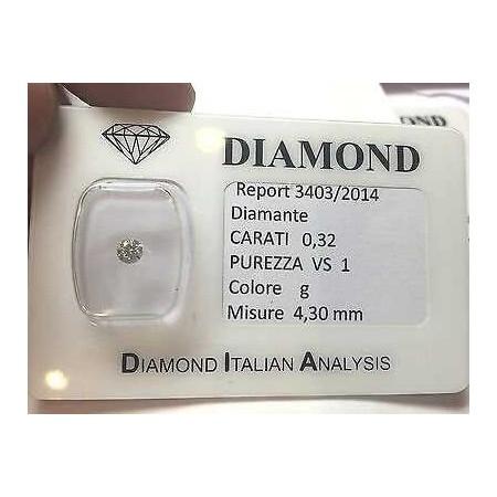 DIAMANT DE 0,32 CARAT VS1 G COULEUR blister - lotto 0,30
