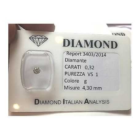 DIAMOND 0.32 CARAT VS1 G COLOR blister - lotto 0,30