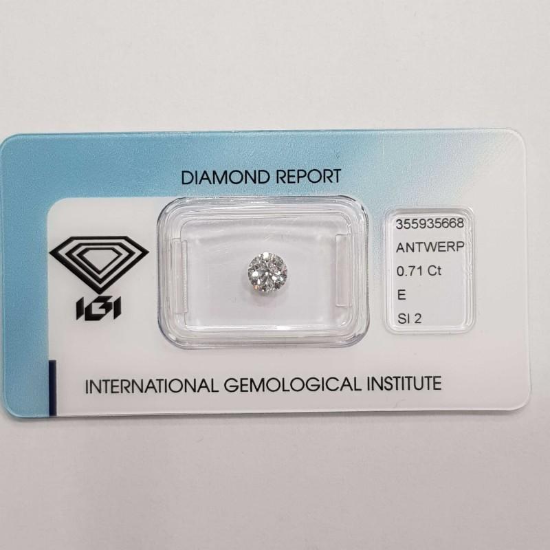 Diamante Certificato IGI 0.71 E SI2 in Blister - REP355935668