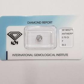 Diamant Certifié IGI DE 0,70 F SI2 Blister - REP361965271