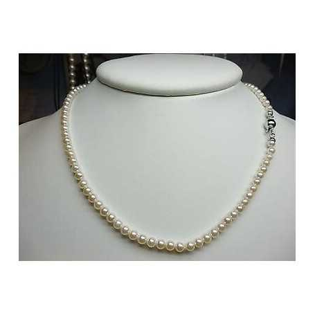 NECKLACE AKOYA PEARLS WHITE Measure 5-5.5 mm CLASP 18kt GOLD Length 40 cm
