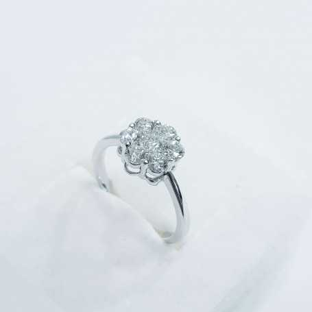 SOLITAIRE RING in WHITE GOLD 0.50 Carats Purity-VS2 Color G