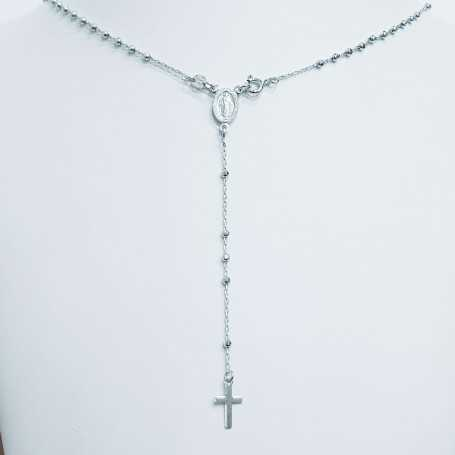 Pendant rosary in silver 925 Rhodium White