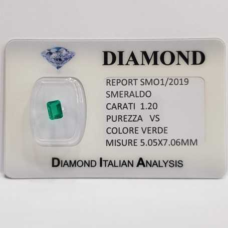 Emerald Emerald 1.20 carats vs certified in BLISTER