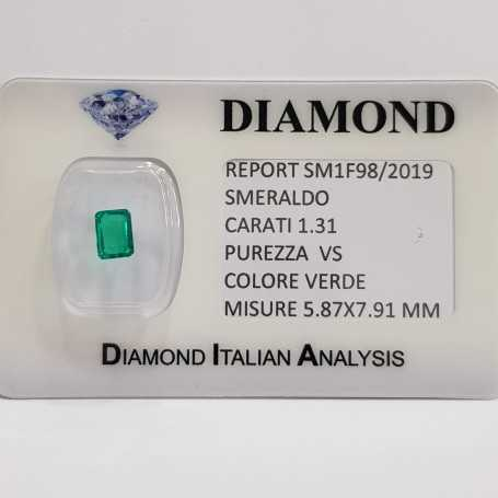 Emerald Emerald 1.31 carats vs certified in BLISTER