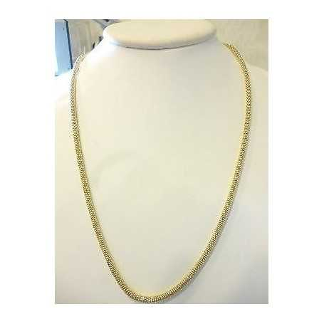 NECKLACE IN SILVER 925 RHODIUM PLATED YELLOW GOLD