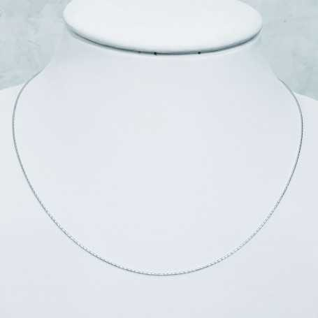 White gold rhodium plated silver necklace 45 cm