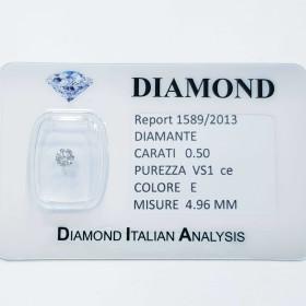 NATUREL DIAMANT DE 0,50 CARAT E COULEUR VS 1 CE lot de 1,00